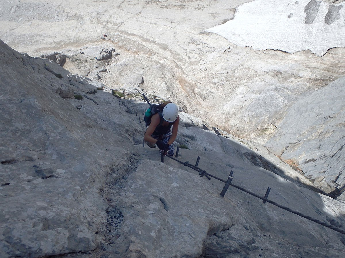 Klettersteig Johann Topo : Der johann klettersteig südwandklettersteig bergsteigen