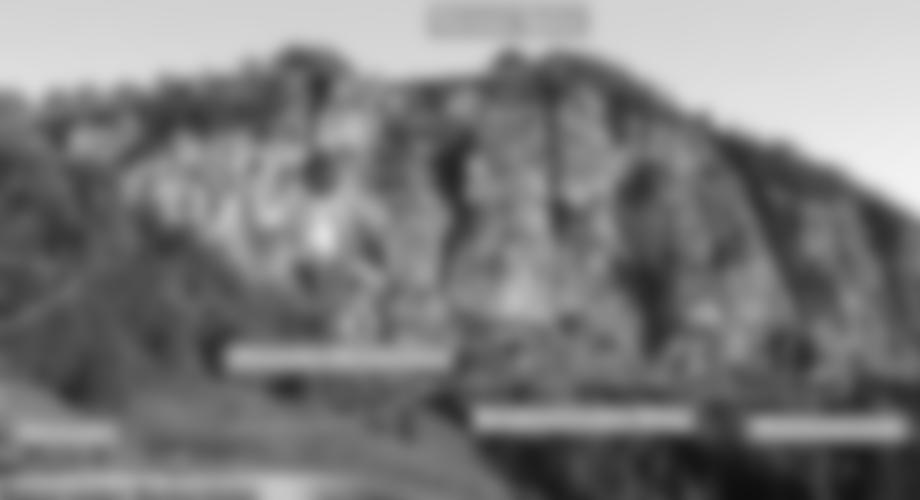 Übersicht Klettersteig an der Ottenalm