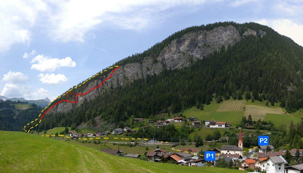St Jodok Klettersteig : Peter kofler klettersteig stafflacher wand bergsteigen.com