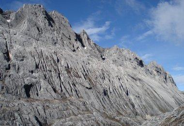 Nordwand der Carstensz Pyramide