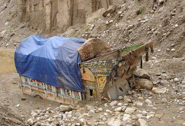 Karakorum Highway weggespült