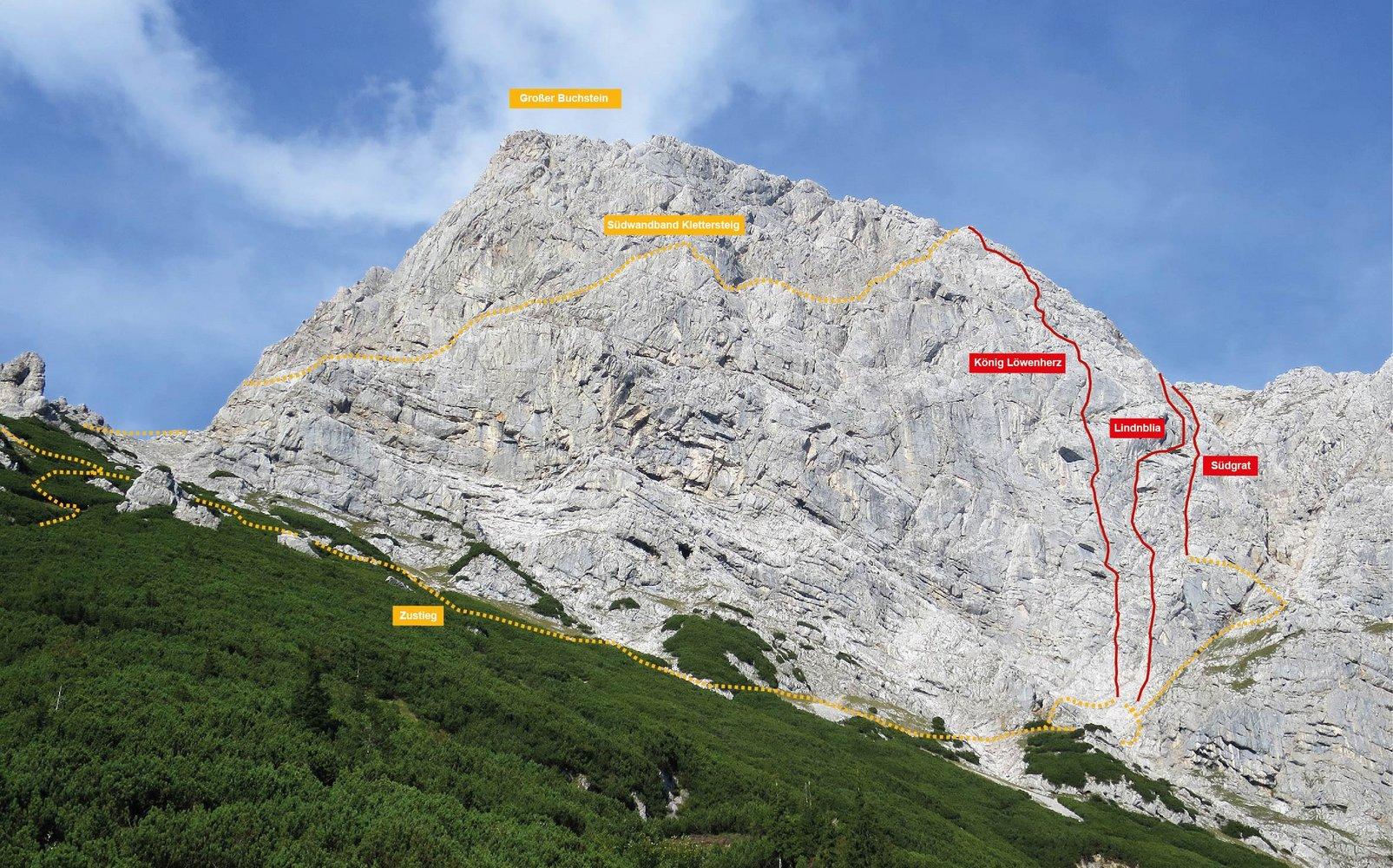 Klettersteig Buchstein : Buchstein südgrat bergsteigen