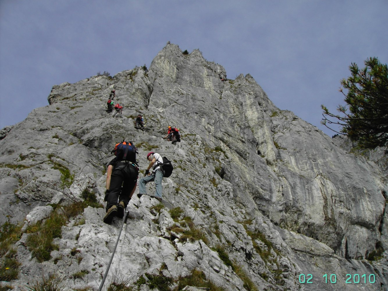Klettersteig Leopoldsteinersee : Kaiser franz joseph klettersteig seemauer bergsteigen