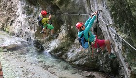 Klettersteig Italien : Ferrata casto klettersteig park bergsteigen