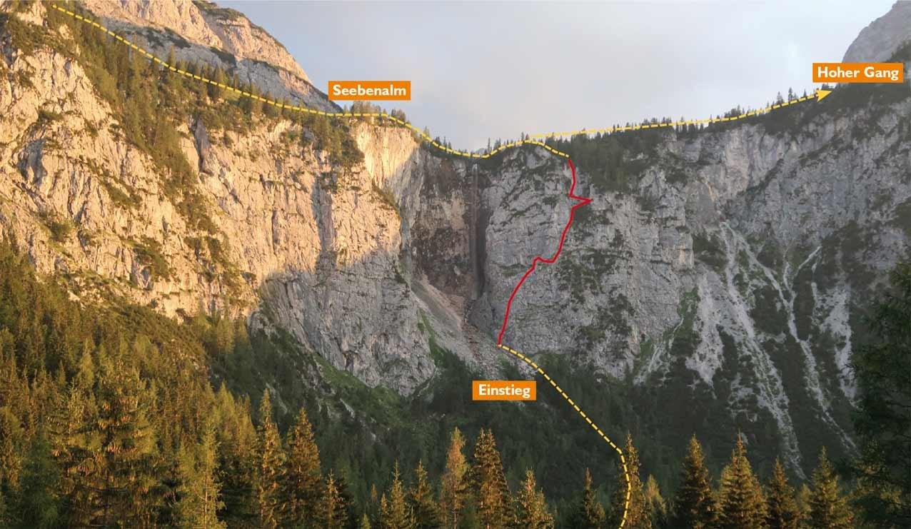 Klettersteig Ehrwald : Seeben klettersteig bergsteigen