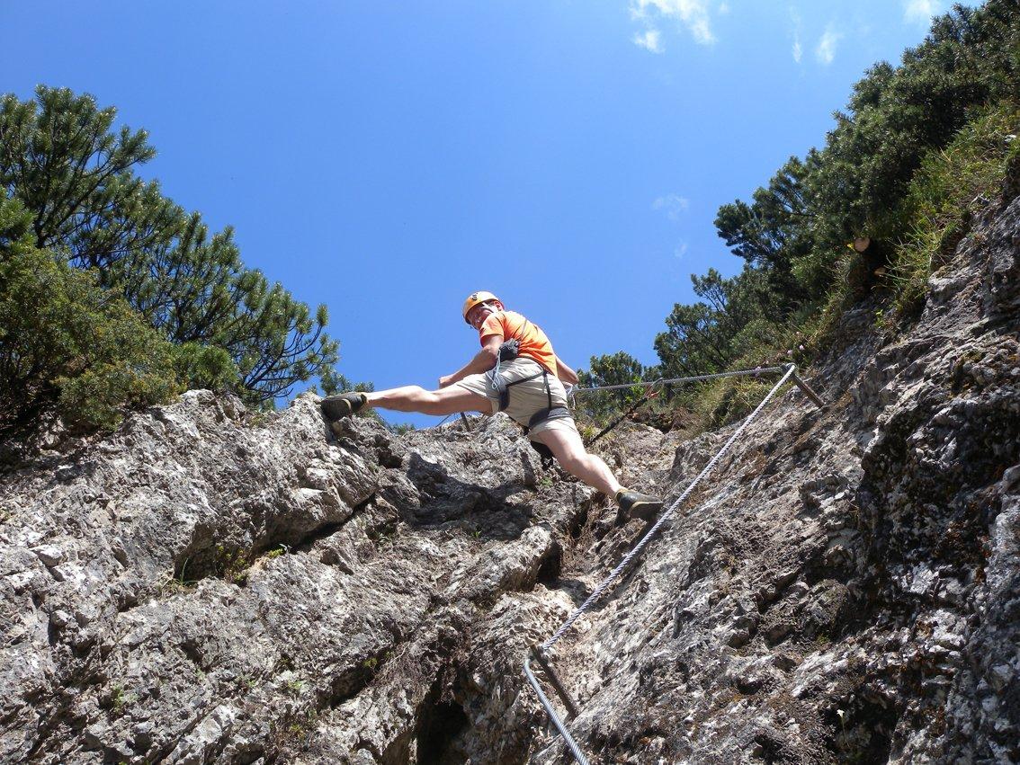 Klettersteig Walchsee : Bergkameraden klettersteig bergsteigen