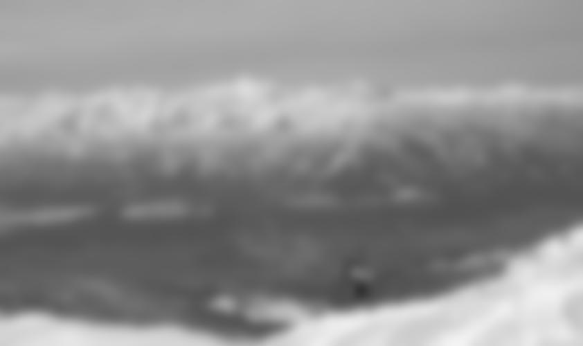 Blick hinunter in das schneefreie Inntal.