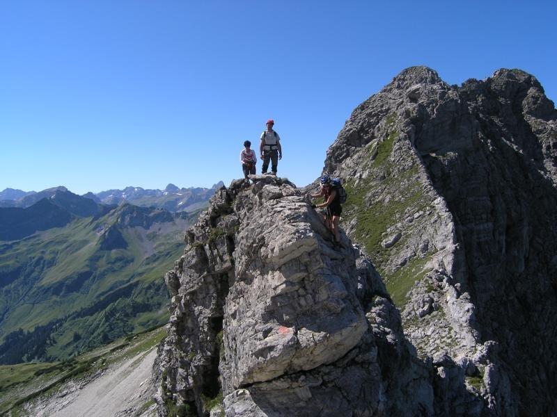 Klettersteig Hindelang : Hindelanger klettersteig bergsteigen.com