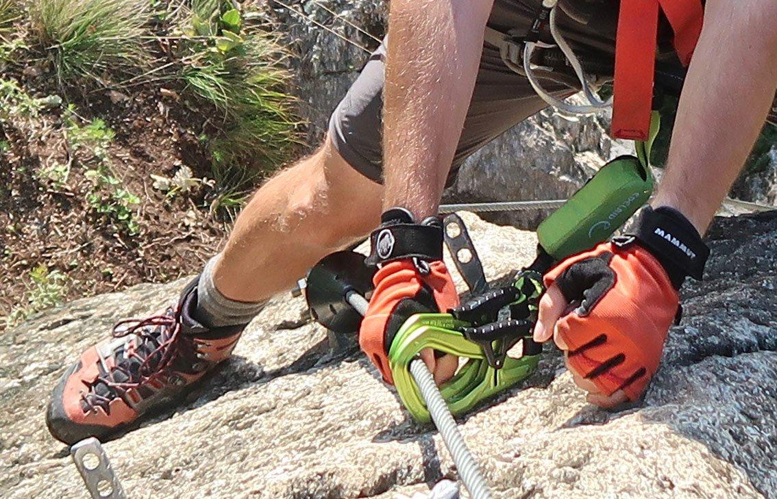 Klettergurt Einbinden Klettersteigset : Test cable comfort klettersteigset von edelrid