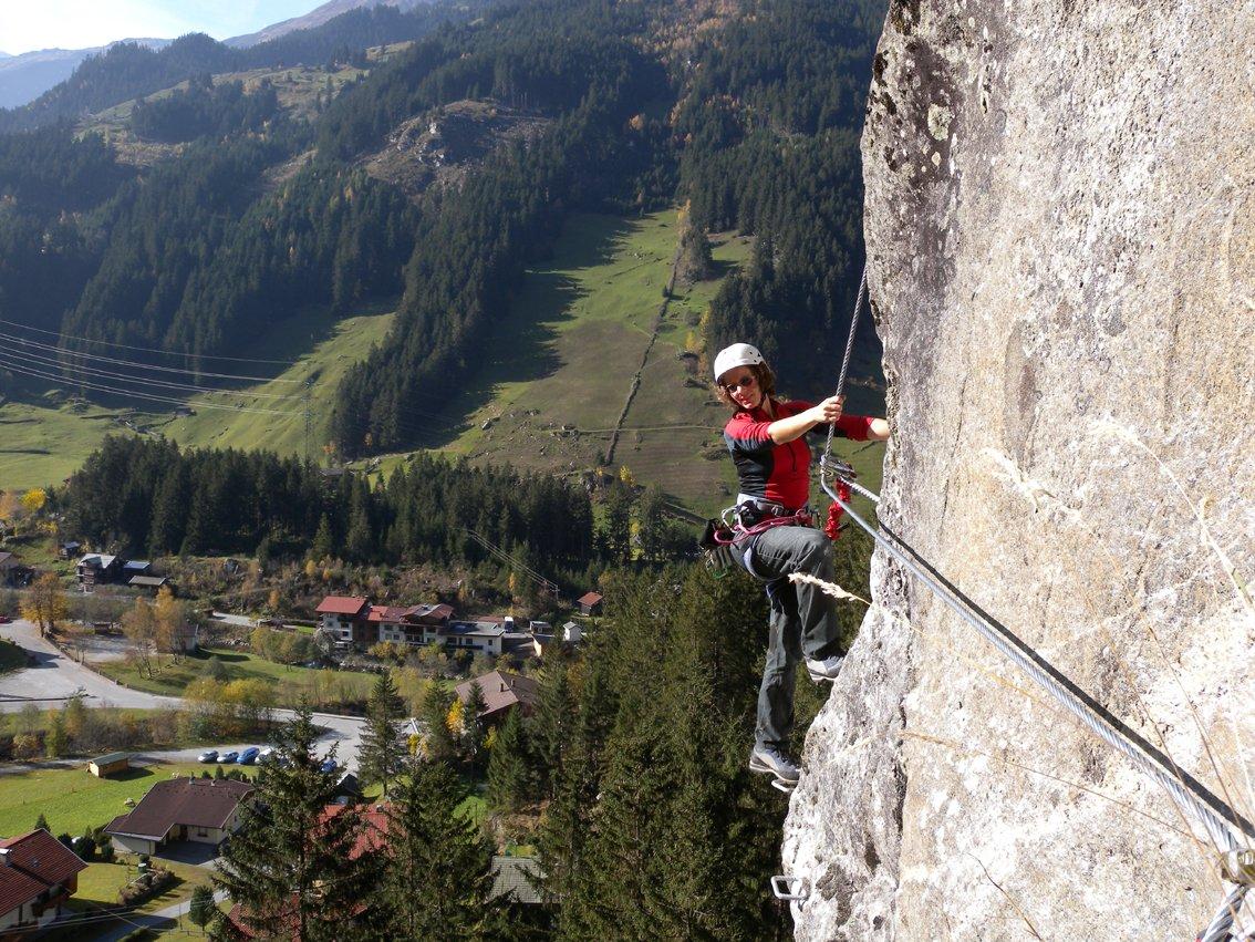 Klettersteig Nasenwand : Nasenwand klettersteig ginzling bergsteigen