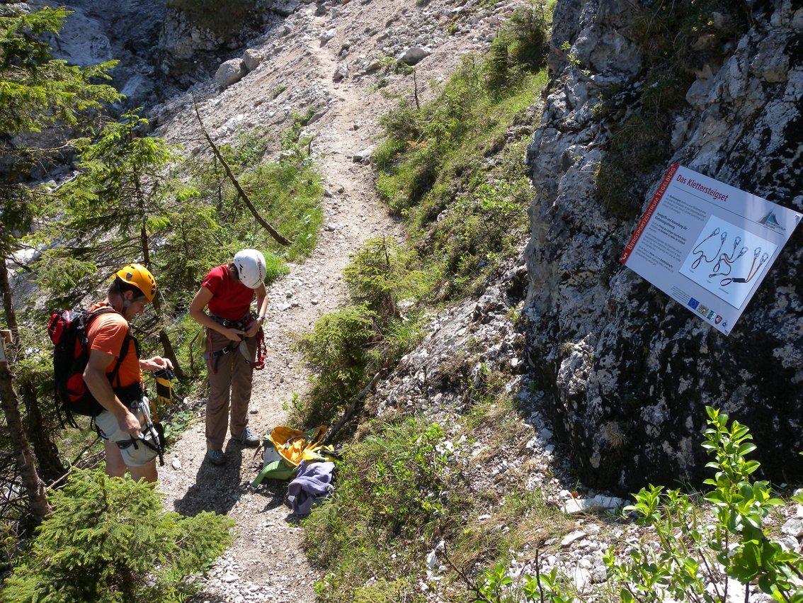 Klettersteig Gelbe Wand : Gelbe wand steig klettersteig bergsteigen