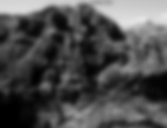 Übersicht Daubenhorn-Klettersteig - der Gipfel ist nicht sichtbar! Nr. 6 ist der steile Notabstieg.
