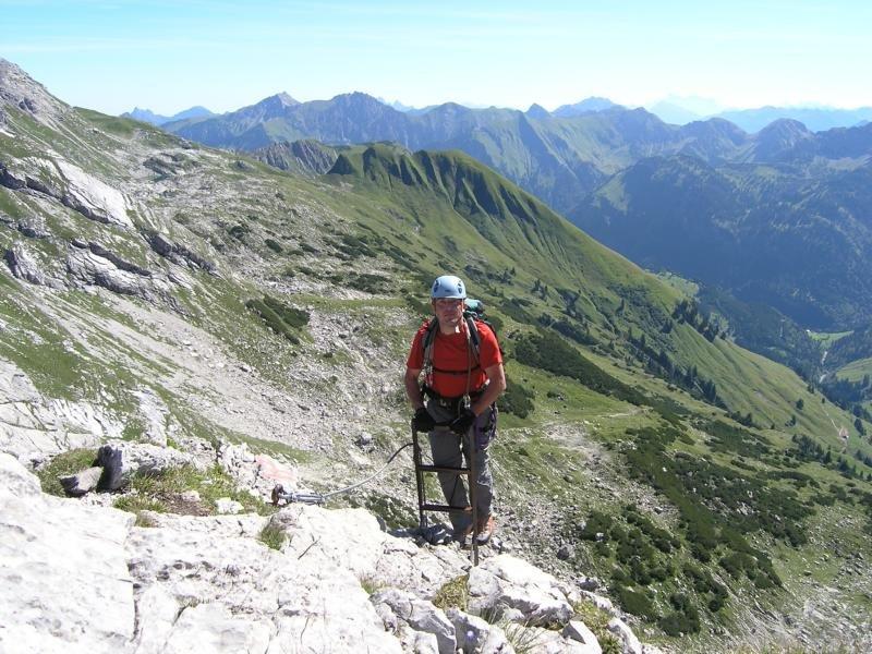 Hindelanger Klettersteig Wengenkopf : Hindelanger klettersteig bergsteigen