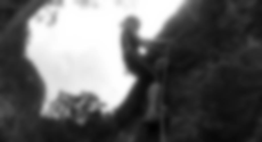 Im unteren Teil des Klettersteiges