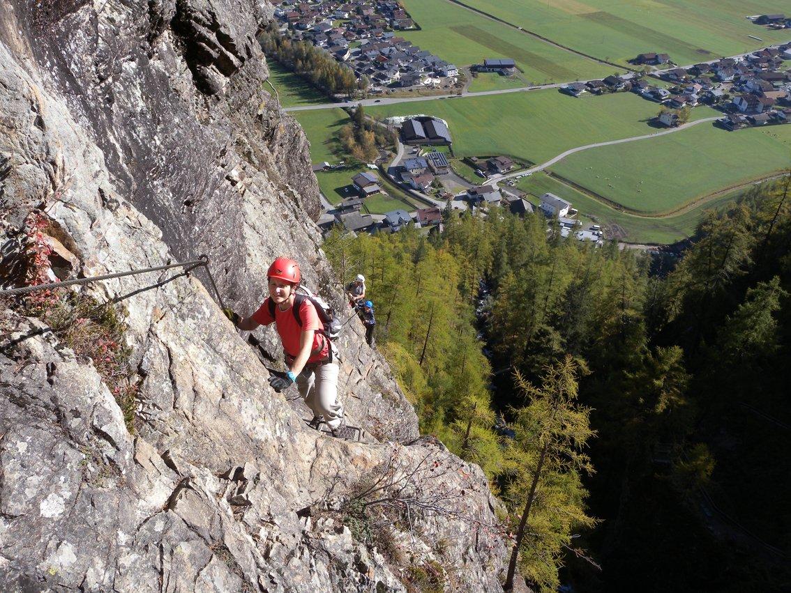 Klettersteig Längenfeld : Klettersteig lehner wasserfall