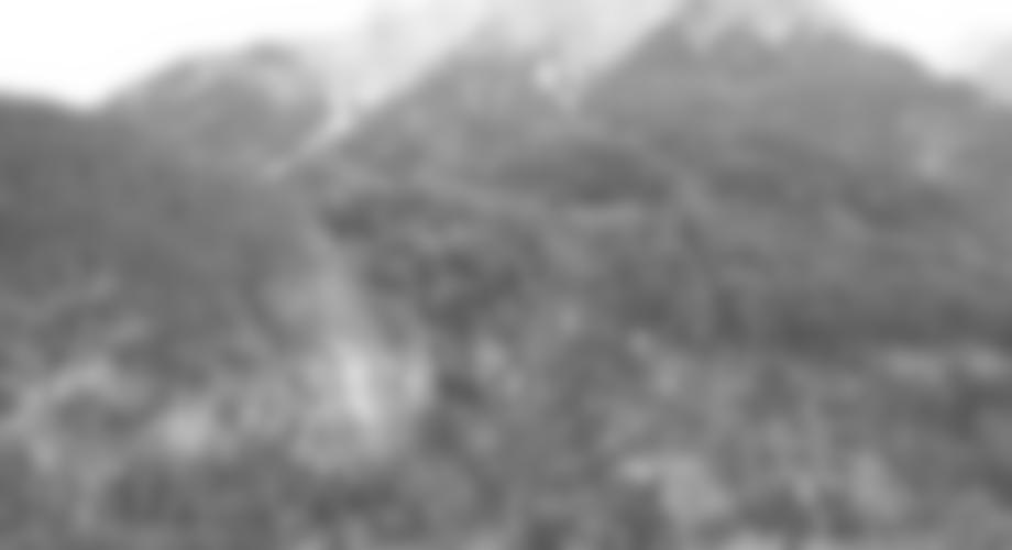 Übersicht Dopamin-Klettersteig, der Abstiegsklettersteig ist strichliert