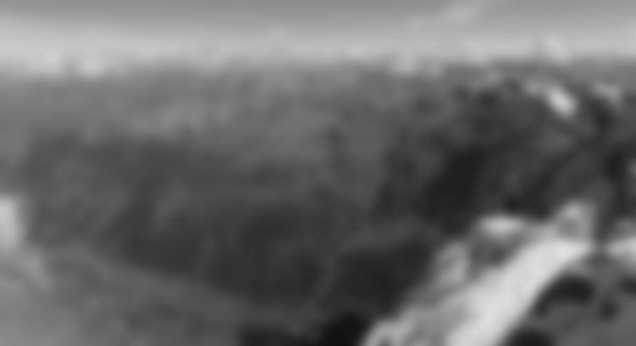 Blick vom Gipfel in Richtung Osten (schon beim Abstieg).