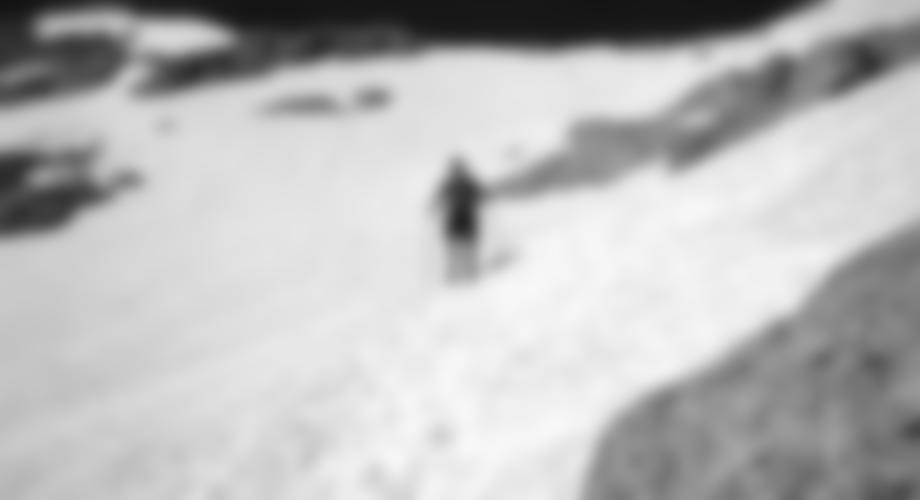 Querung des Schneefelds im Edelgries