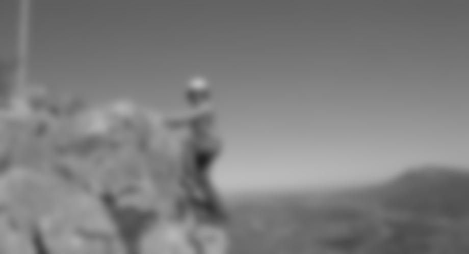 Die letzte Kletterstelle vor dem Gipfel.