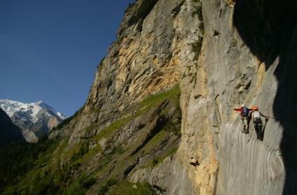 Klettersteig Allmenalp : Kandersteg klettersteig allmenalp bergsteigen
