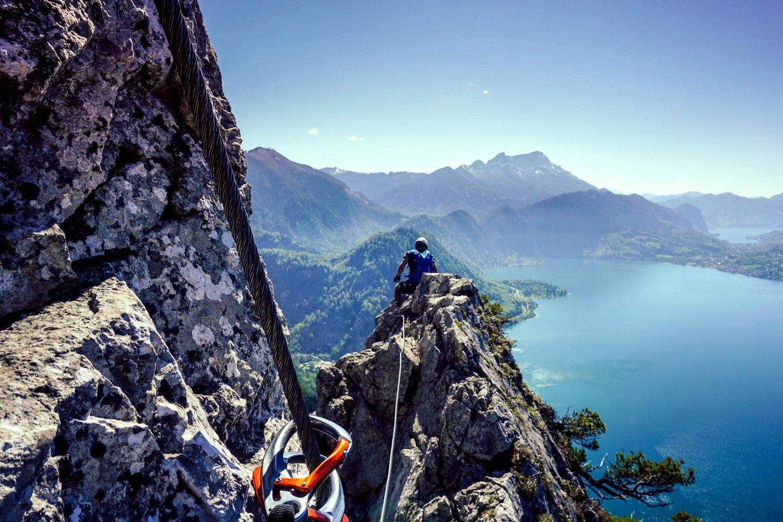 Klettersteig Oberösterreich : Attersee klettersteig bergsteigen