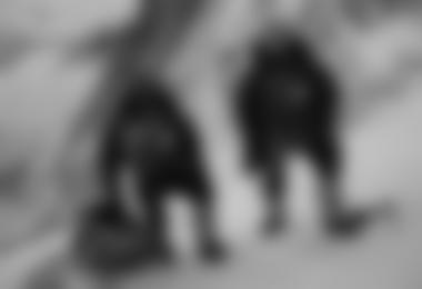 Gerlinde und Ralf am Beginn der Aufstiegsrinne ©  Xavi Arias