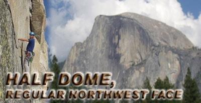 Klettersteig Yosemite : Half dome regular northwest face bergsteigen.com