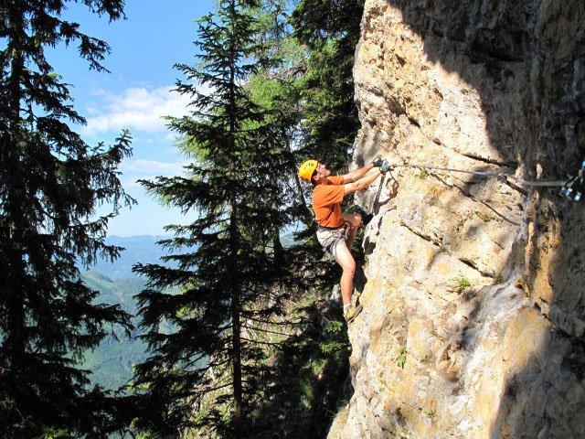 Klettersteigset Mit Seilklemme : Bürgeralm klettersteig mit arenavariante bergsteigen