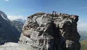 Klettersteig Grindelwald : Rotstock klettersteig bergsteigen