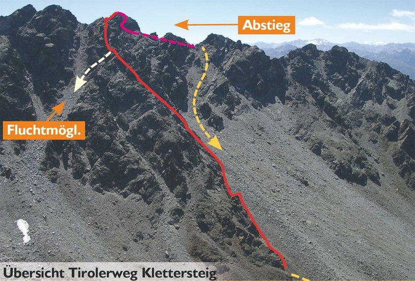 Klettersteig Nauders : Tirolerweg klettersteig bergsteigen.com