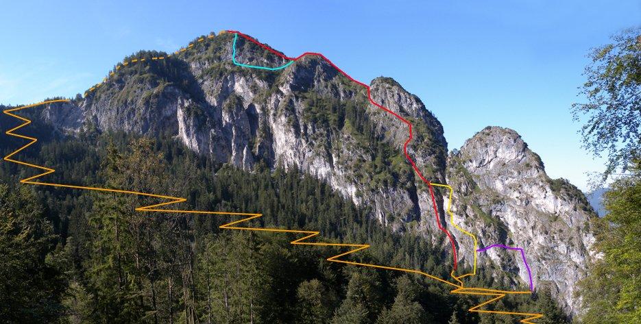 Klettersteig Grünstein : Grünstein klettersteig isidor variante