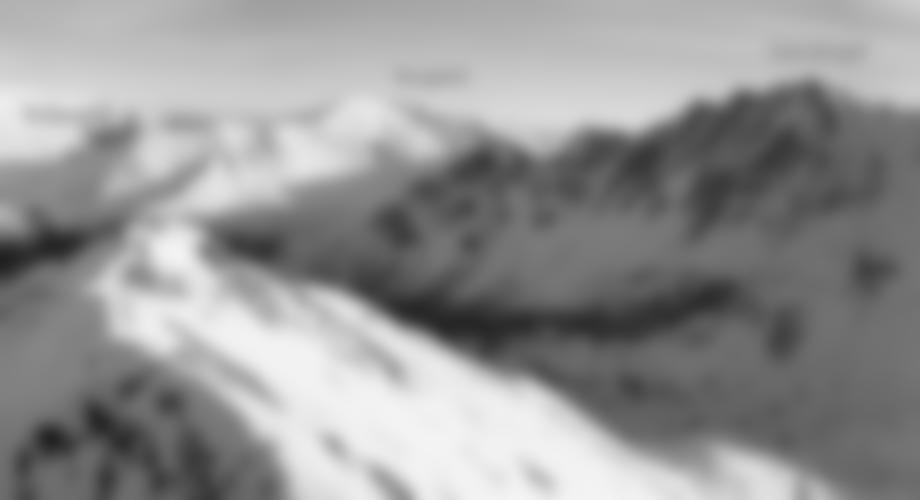 Übersicht Aufstieg Skitour Gamskogel Nodwestrinne