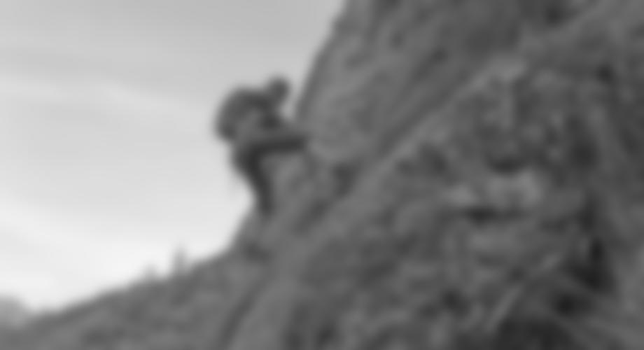 Die ersten Meter des Klettersteiges.