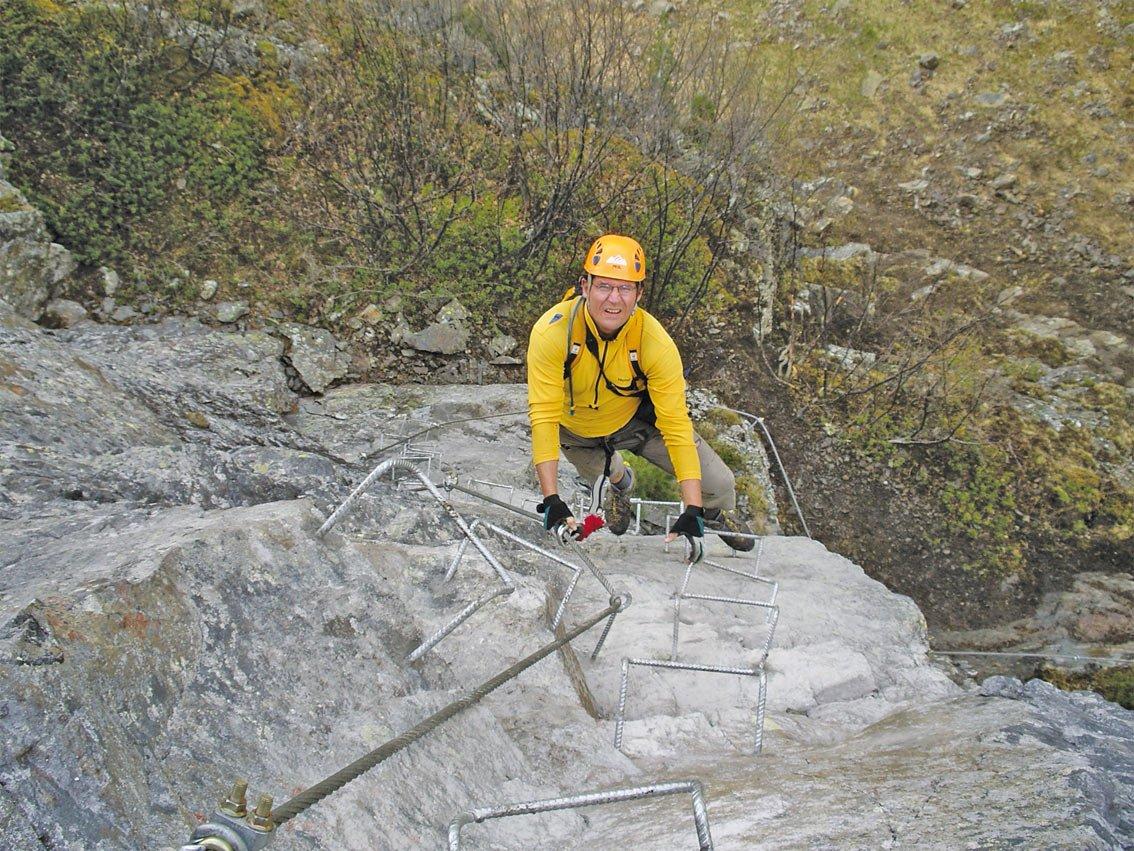 Klettersteig Quarzit : Anton renk klettersteig bergsteigen