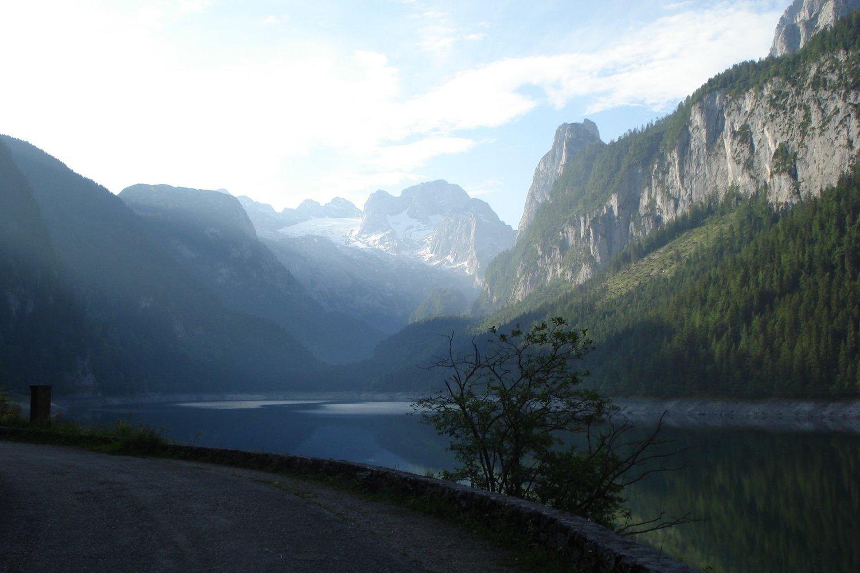 Klettersteig Gosausee : Laserer alpin klettersteig bergsteigen