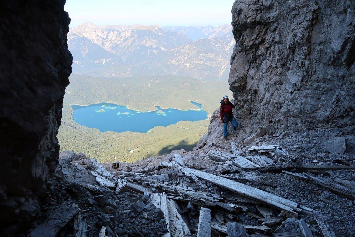Klettersteig Eisenzeit : Bergführerweg eisenzeit zugspitze bergsteigen