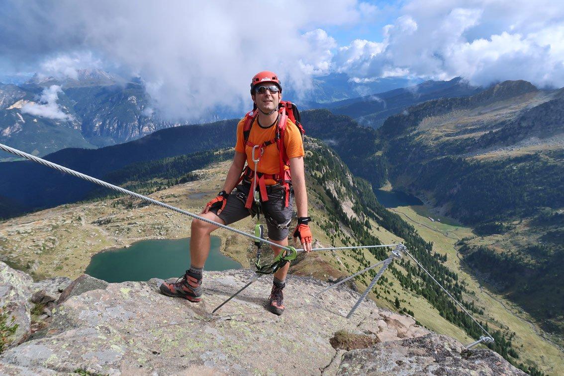 Klettersteigset Drehgelenk : Test cable comfort klettersteigset von edelrid bergsteigen