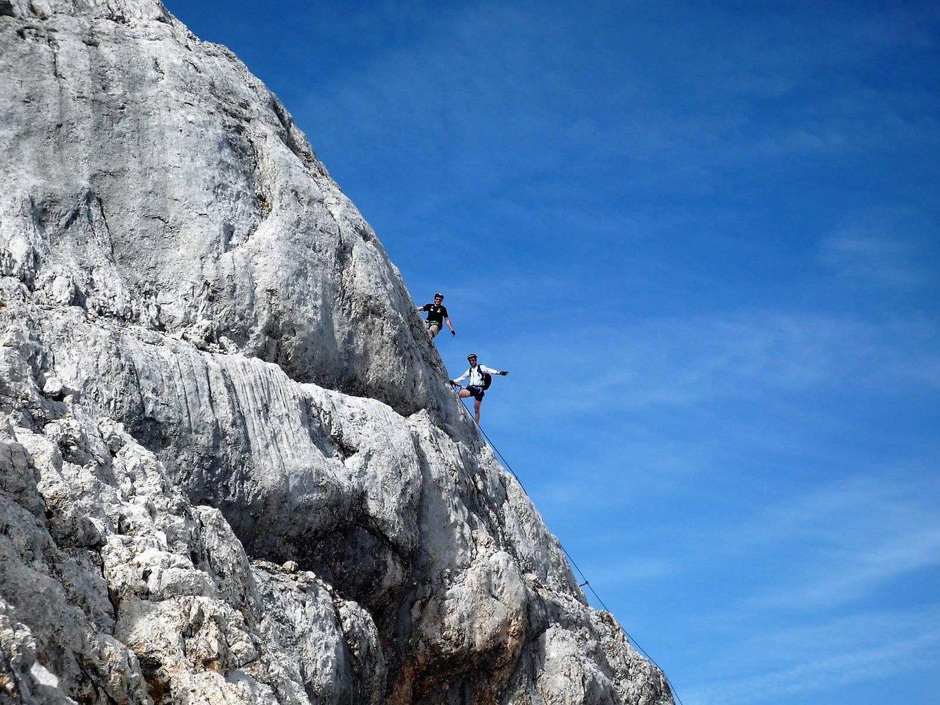 Klettersteig Dachstein : Schulter anstieg auf den dachstein schulteranstieg bergsteigen