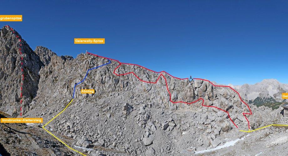 Klettersteig Innsbruck Umgebung : Geierwally klettersteig bergsteigen.com