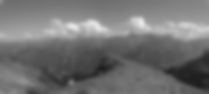 Tolles Panorama beim Abstieg.