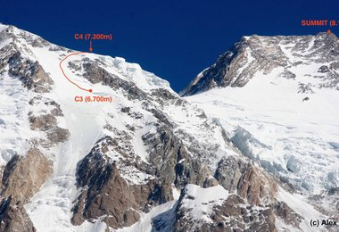 Camp 3, Camp 4 und der Gipfel des Nanga Parbats