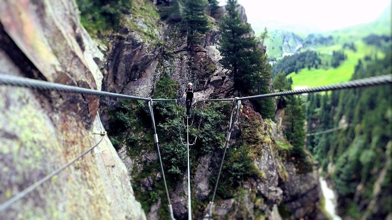 Klettersteig Zirbenwald : Obergurgler klettersteig bergsteigen