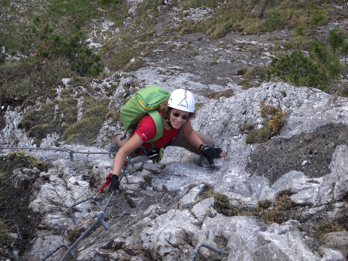 Klettersteig Tegelberg : Benedikt und sebastian auf dem klettersteig nürtinger zeitung
