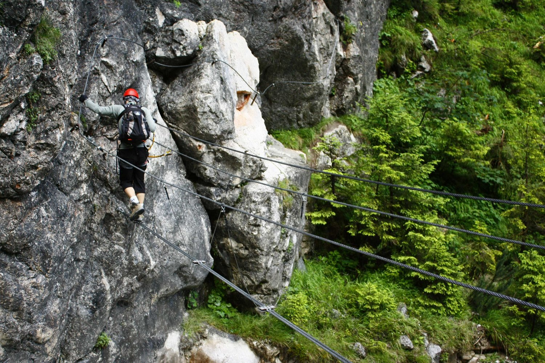 Klettersteig Rakousko : Hias klettersteig bergsteigen