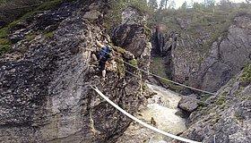 Klettersteig Verborgene Welt : Klettersteig verborgene welt bergsteigen.com