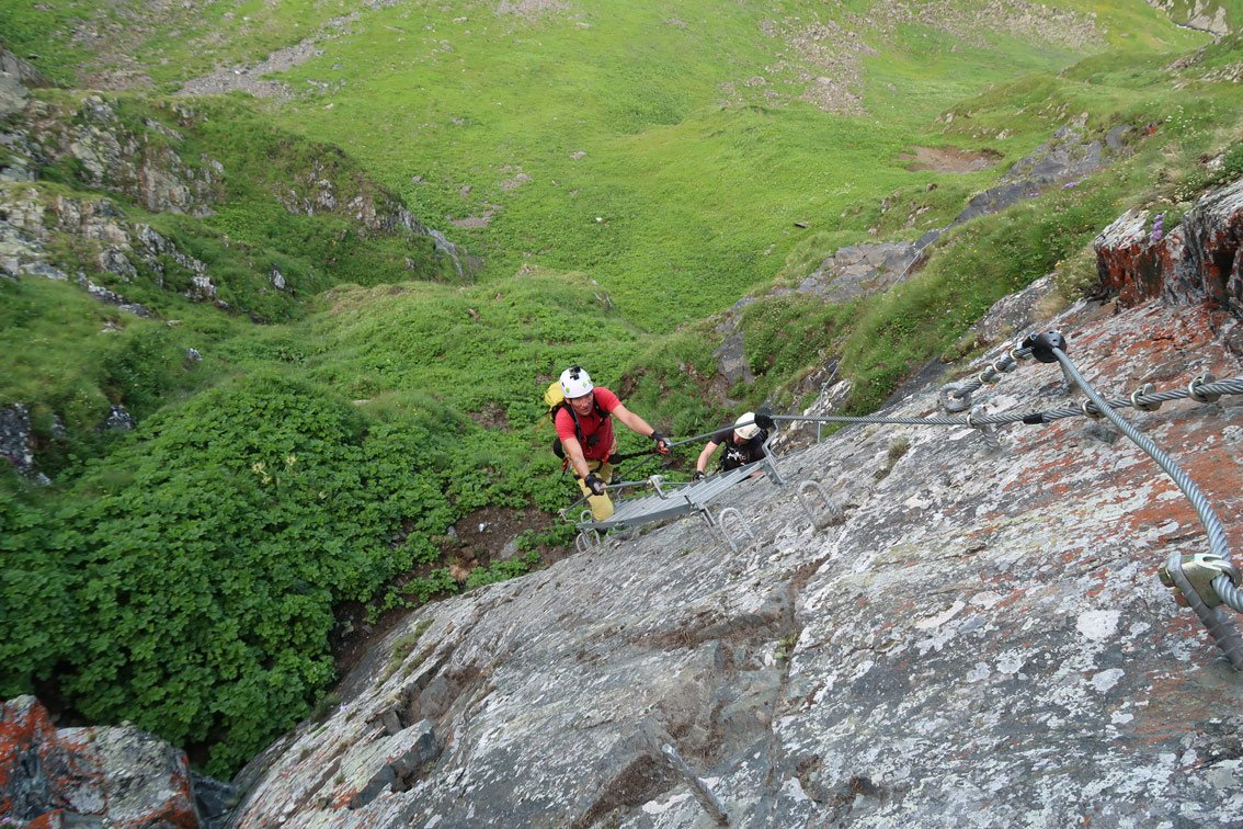 Klettersteig Montafon : Hochjoch klettersteig schruns bergsteigen