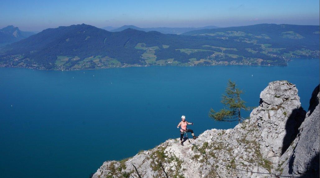 Klettersteig Attersee : Attersee klettersteig u mahdlgupf Öav ortsgruppe eggelsberg