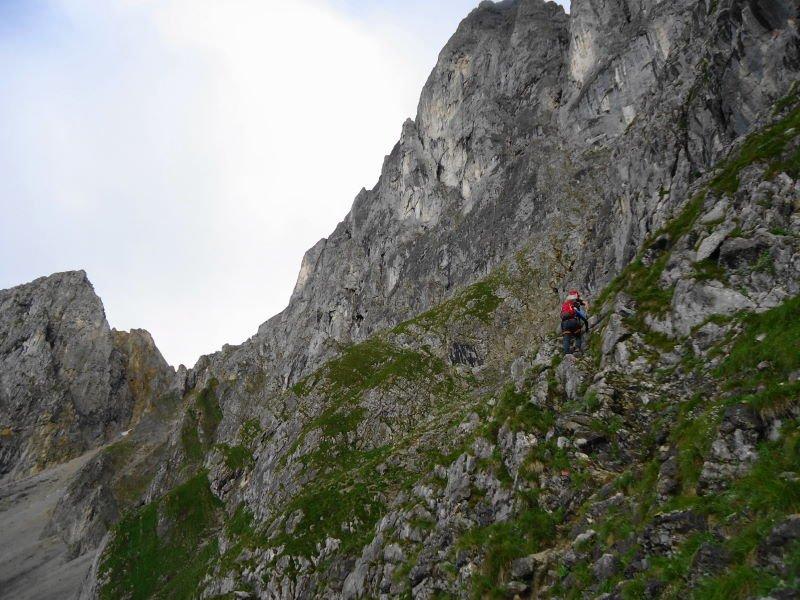 Klettersteig Ellmauer Halt : Klettersteig auf die ellmauer halt kaisergebirge