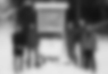 Hinweistafel von Forst, Jagd, Alpenverein, für Skitourengeher in Walchen/Wattental