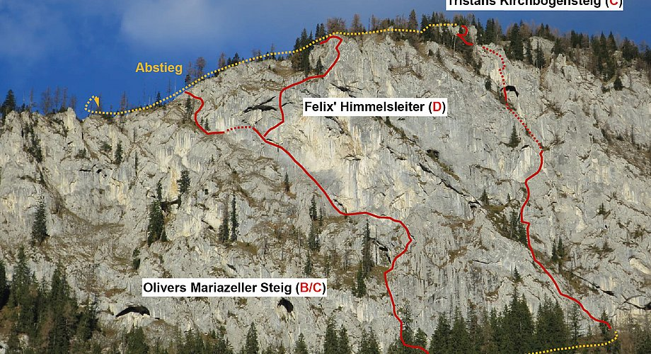Klettersteig Himmelsleiter : Felix himmelsleiter klettersteig spielmäuer bergsteigen